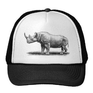 Rhinocéros vintages de rhinocéros d'illustration casquettes