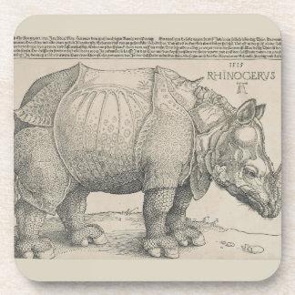 Rhinoceros, Woodcut by Albrecht Durer Coasters