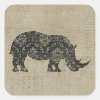 Rhinoceroses Silhouette Sticker