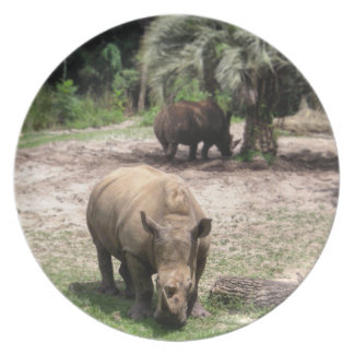 Rhinos on Safari Plate