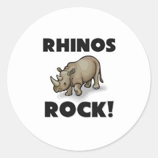 Rhinos Rock Classic Round Sticker