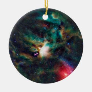 Rho Ophiuchi Cloud Complex Dark Nebula Round Ceramic Ornament