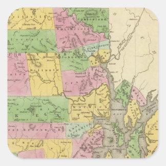Rhode Island 3 Square Sticker