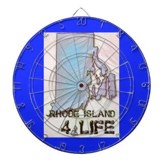 """Rhode Island 4 Life"" State Map Pride Design Dartboard"