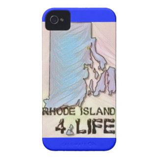 """Rhode Island 4 Life"" State Map Pride Design iPhone 4 Case"