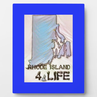 """Rhode Island 4 Life"" State Map Pride Design Plaque"