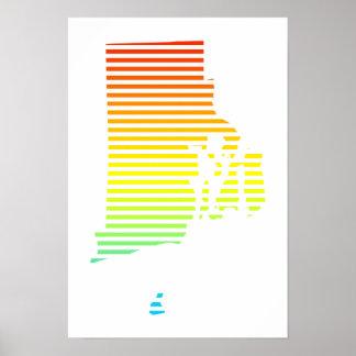 rhode island chill fade poster