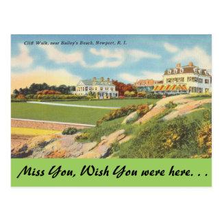 Rhode Island, Cliff Walk, Newport Postcard
