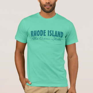 RHODE ISLAND custom text clothing T-Shirt
