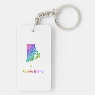 Rhode Island Double-Sided Rectangular Acrylic Keychain