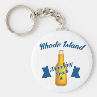 Rhode Island Drinking team Basic Round Button Keychain