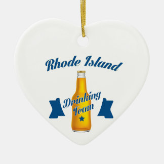 Rhode Island Drinking team Ceramic Ornament