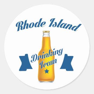 Rhode Island Drinking team Classic Round Sticker