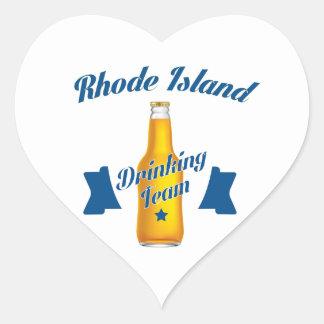 Rhode Island Drinking team Heart Sticker