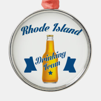 Rhode Island Drinking team Metal Ornament