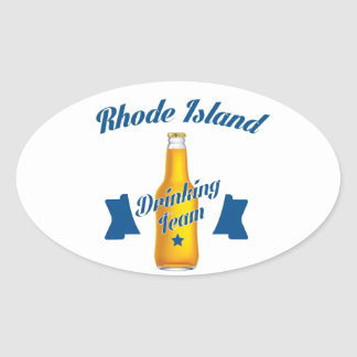 Rhode Island Drinking team Oval Sticker