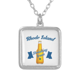 Rhode Island Drinking team Silver Plated Necklace