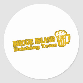 Rhode Island Drinking Team t shirts Classic Round Sticker