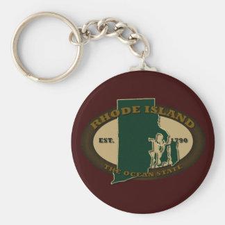 Rhode Island Est 1790 Keychain