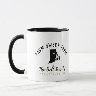 Rhode Island Farm Sweet Farm Family Monogram Mug