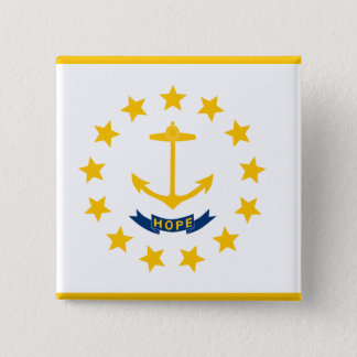 Rhode Island Flag 2 Inch Square Button