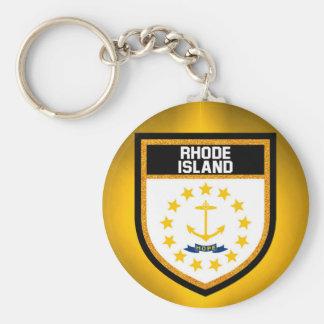 Rhode Island Flag Keychain