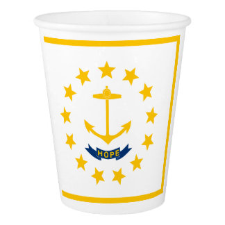 Rhode Island Flag Paper Cup