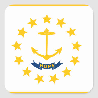 Rhode Island Flag Square Sticker