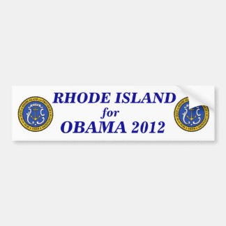 Rhode Island for Obama 2012 sticker Bumper Sticker