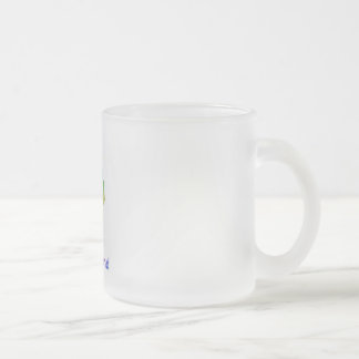 Rhode Island Frosted Glass Coffee Mug