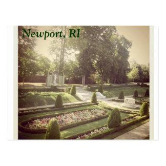 Rhode Island Gardens Postcard