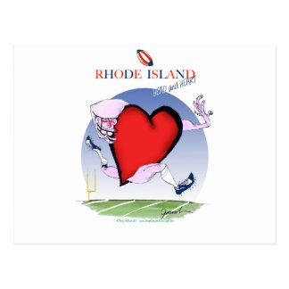 rhode island head heart, tony fernandes postcard