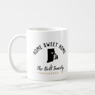 Rhode Island Home Sweet Home Family Monogram Mug