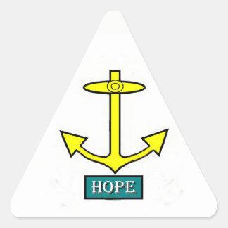 Rhode Island Hope Anchor Triangle Sticker