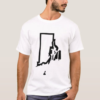 Rhode Island Jagged Outline Tee