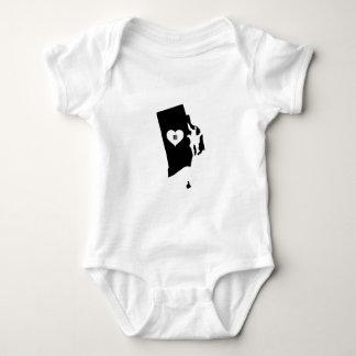 Rhode Island Love Baby Bodysuit