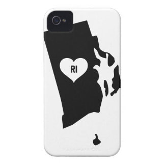 Rhode Island Love iPhone 4 Case-Mate Cases