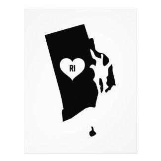 Rhode Island Love Letterhead