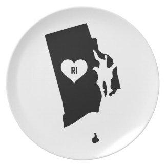Rhode Island Love Plate
