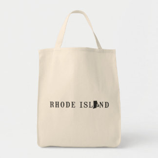 Rhode Island Name with State Shaped Letter