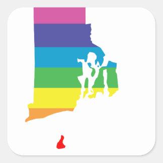 rhode island rainbow square sticker