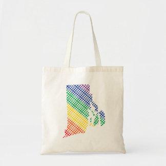 Rhode Island Rainbow State Tote Bag