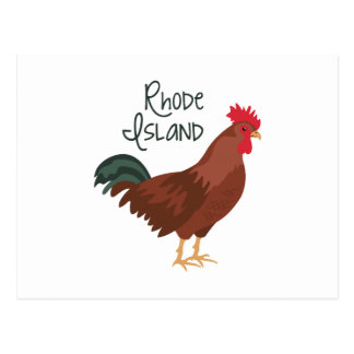 Rhode Island Red Chicken State Bird Postcard