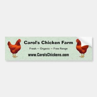 Rhode Island Red Hen Bumper Sticker
