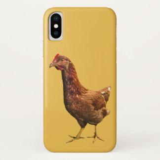 Rhode Island Red Hen Chicken Bird iPhone X Case