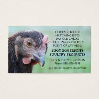 Rhode Island Red Hen Chicken Egg Farmer Business Card