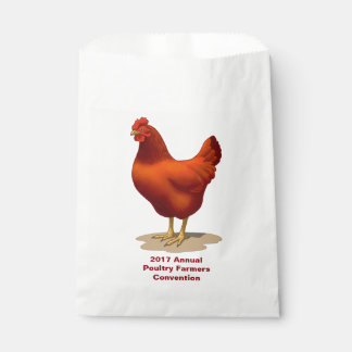 Rhode Island Red Hen Favour Bag