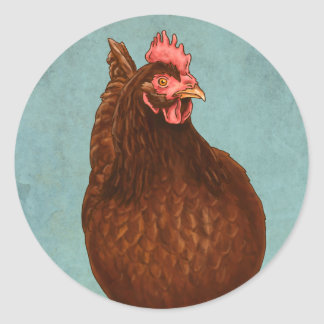 Rhode Island Red Hen Stickers