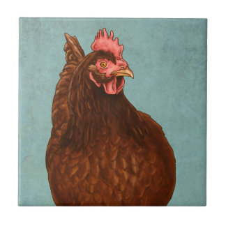 Rhode Island Red Hen Tile