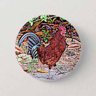 Rhode Island Red Rooster 2 Inch Round Button